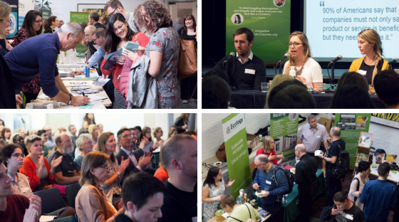 image: collage of ethical consumer conference 2018