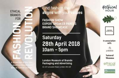 Image: Ethical brands for Fashion Revolution event poster