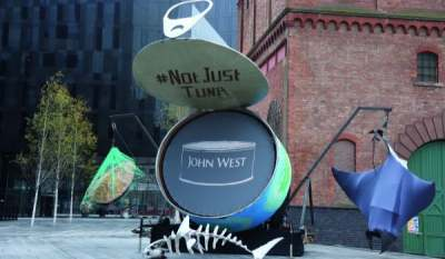 Image: Not Just Tuna John West protest