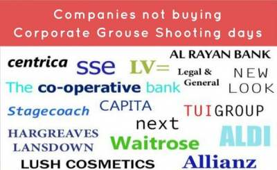 Image: Companies who do not buy corporate grouse shooting days