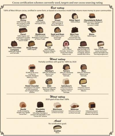 Infographic: cocoa scheme certification