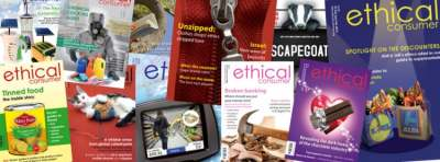 Ethical Consumer magazine covers montage 2