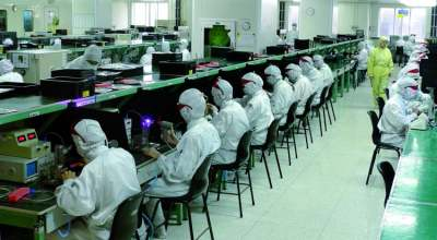 Image: electronics factory