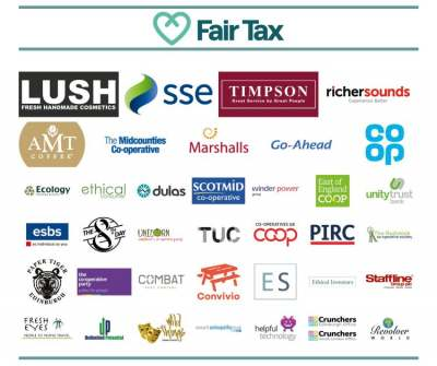 Logos: fair tax mark accredited companies