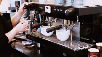 Image: coffee machine in cafe ethical consumer product guide