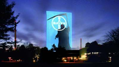 Image: bayer grim reaper sign ethical consumer