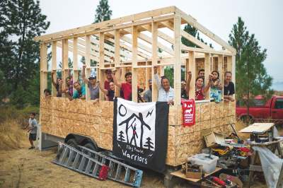 image: tiny house warriors fossil fuel expansion