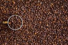 Image: ground coffee beans