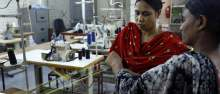Image: no sweat tshirt workers in india manufacturing tshirts