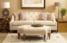 Image: trendy white sofa and stool second hand