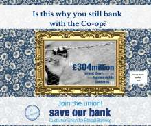 graphic: join the union save our bank ethical banking