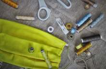 image: diy reuseable mask and sewing equipment consuming ethically covid-19