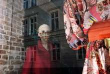 image: clothing shop front burberry face mask covid19