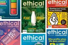image: ethical consumer magazines in a collage 2020