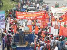 image: long march protest bangladesh coal power