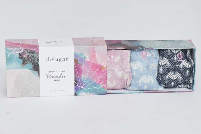 image: gift box of delicate women's underwear from thought