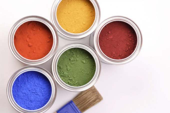 Image:a selection of auro natural paints