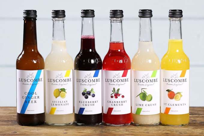 Image: luscombe set of six organic soft drinks from the abel and cole website