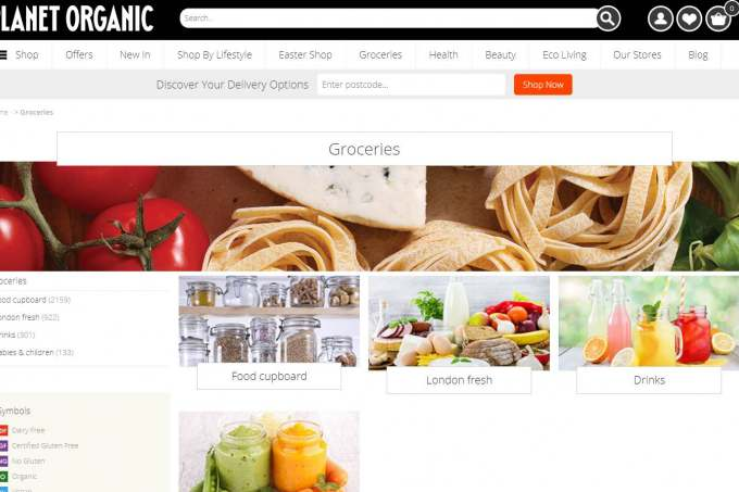 Image: planet organic website ethical supermarket