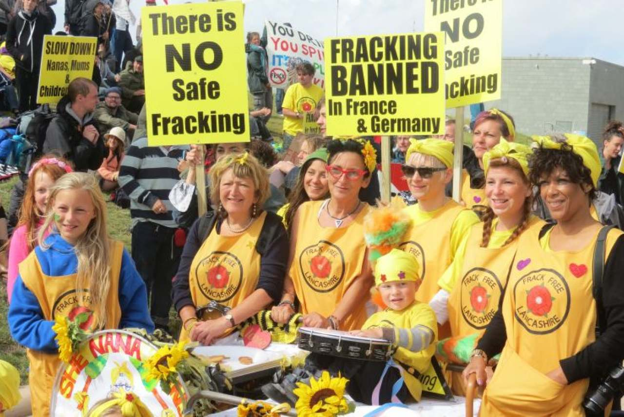 Image: Anti-fracking demonstration lancashire