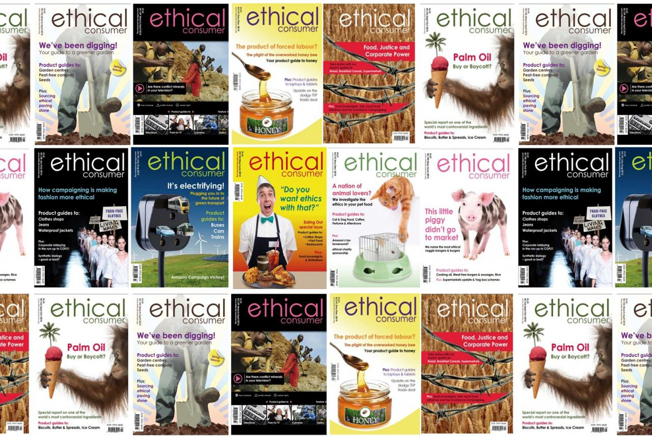 Image: Covers of Ethical Consumer