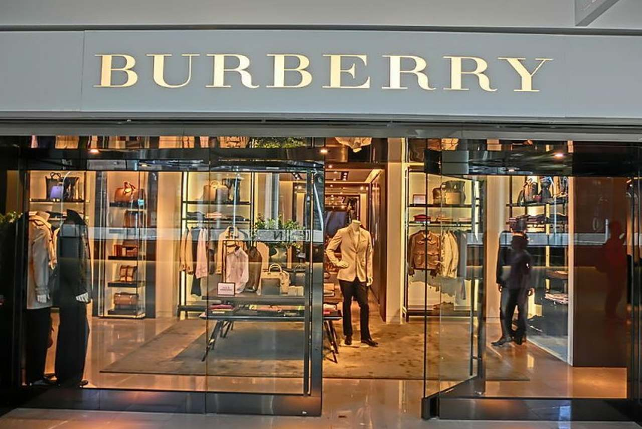 Image: burberry high end store representing the fast fashion industry that has been investigated by the UK parliament