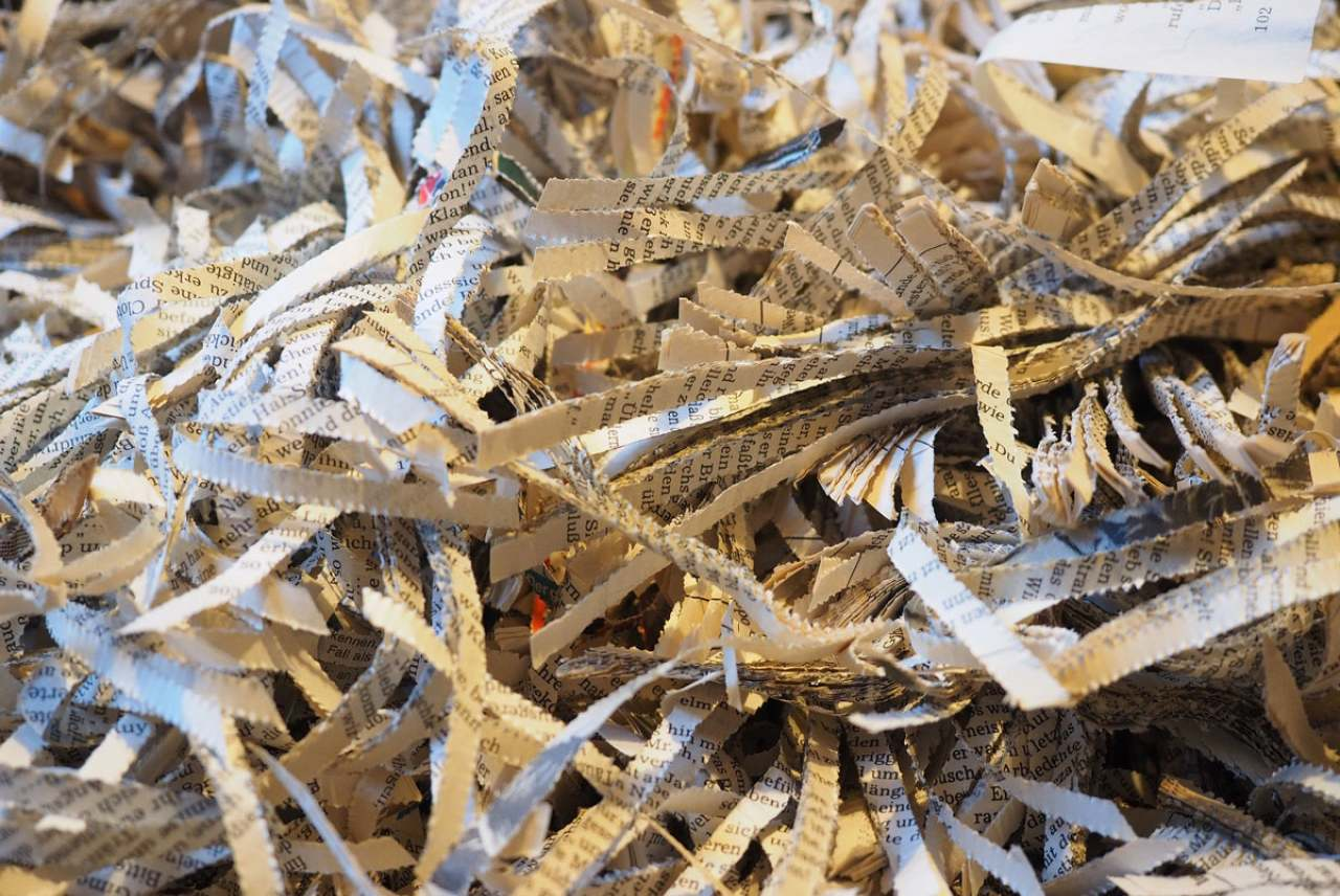 Image: shredded paper symbolising regret and wasted paper that has not been recycled