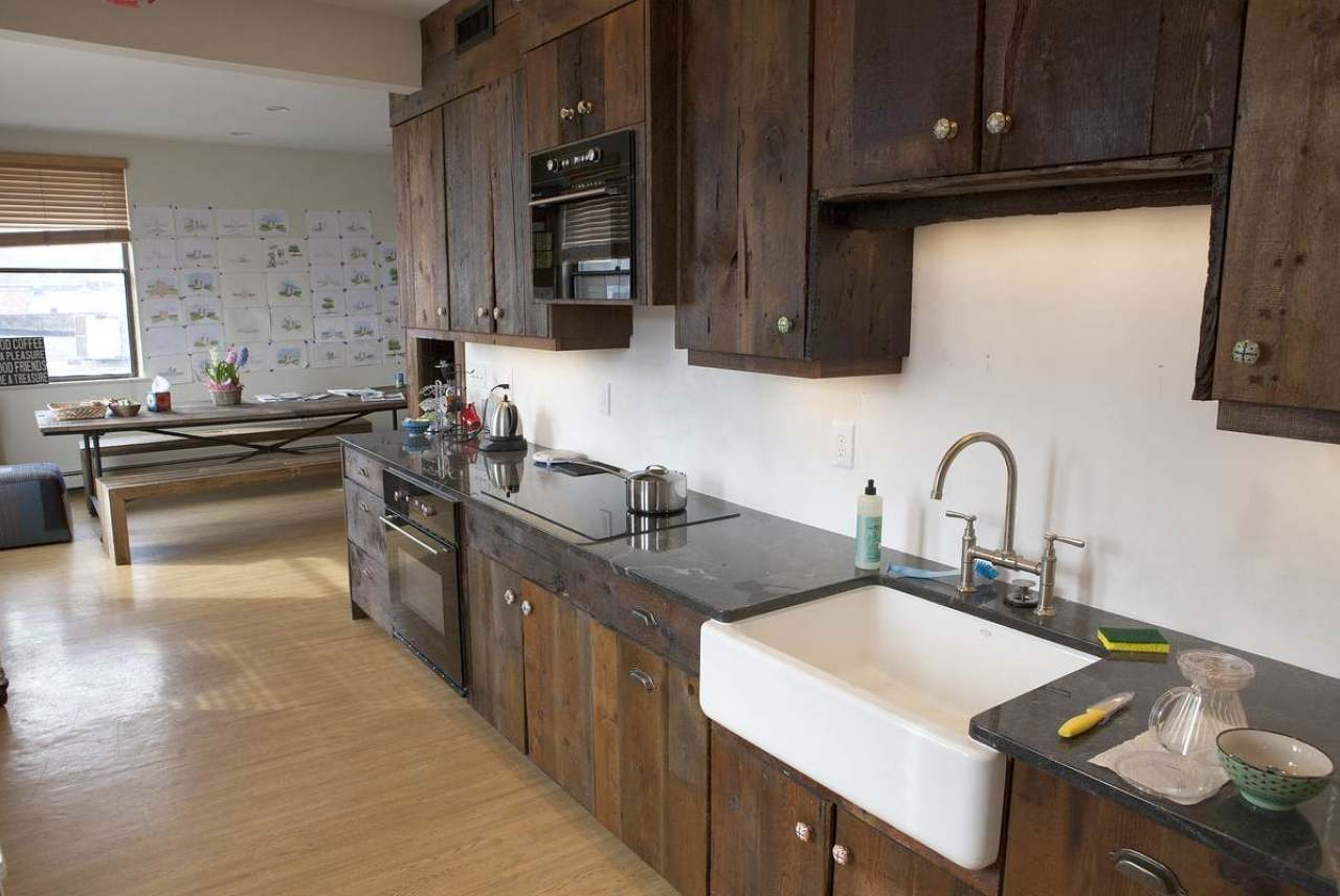 Image: reclaimed wood kitchen ethical eco-friendly