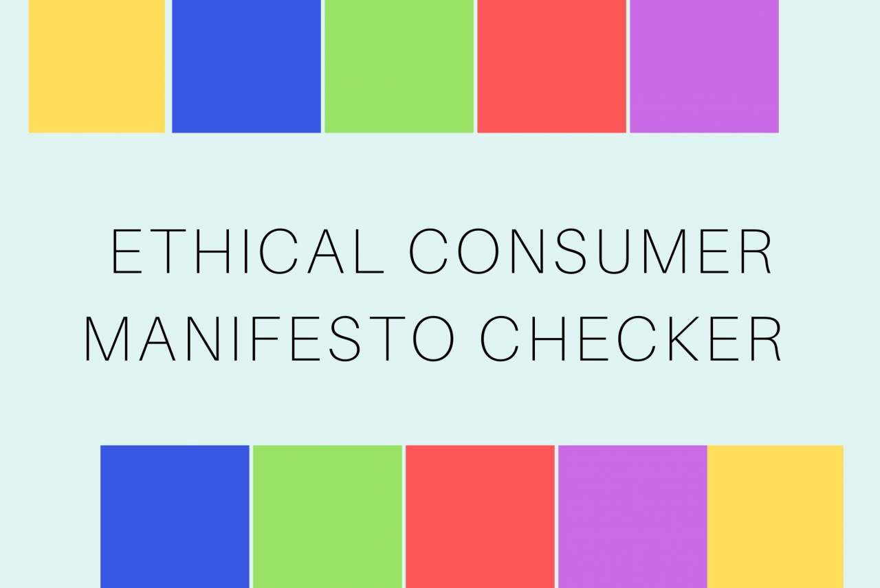 ethical consumer manifesto checker with all party colours 2019 UK general election