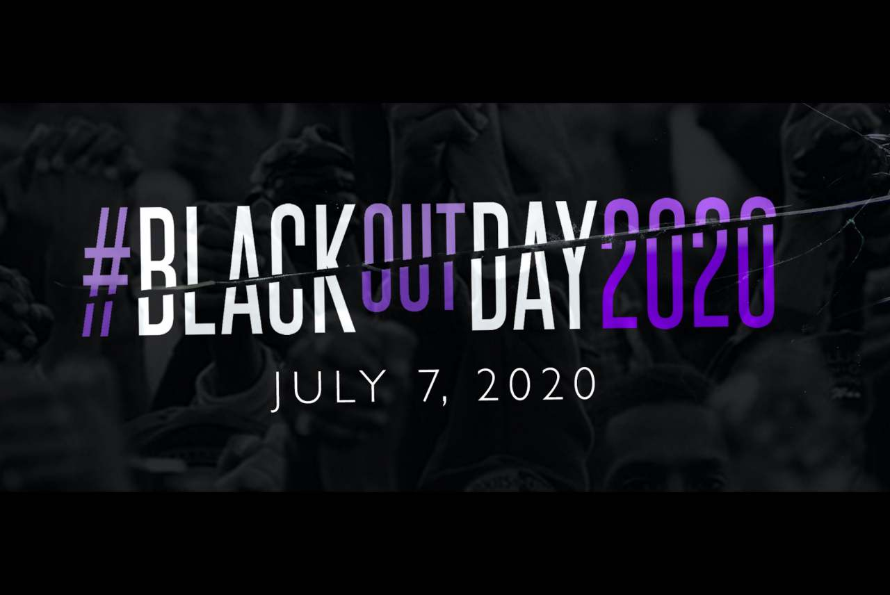 image: screengrab of blackout day website july 7 2020