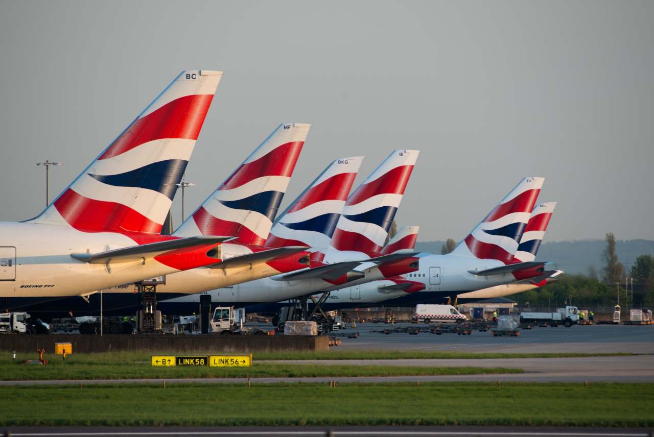 image: BA airlines airport expansion british airlines planes lined up