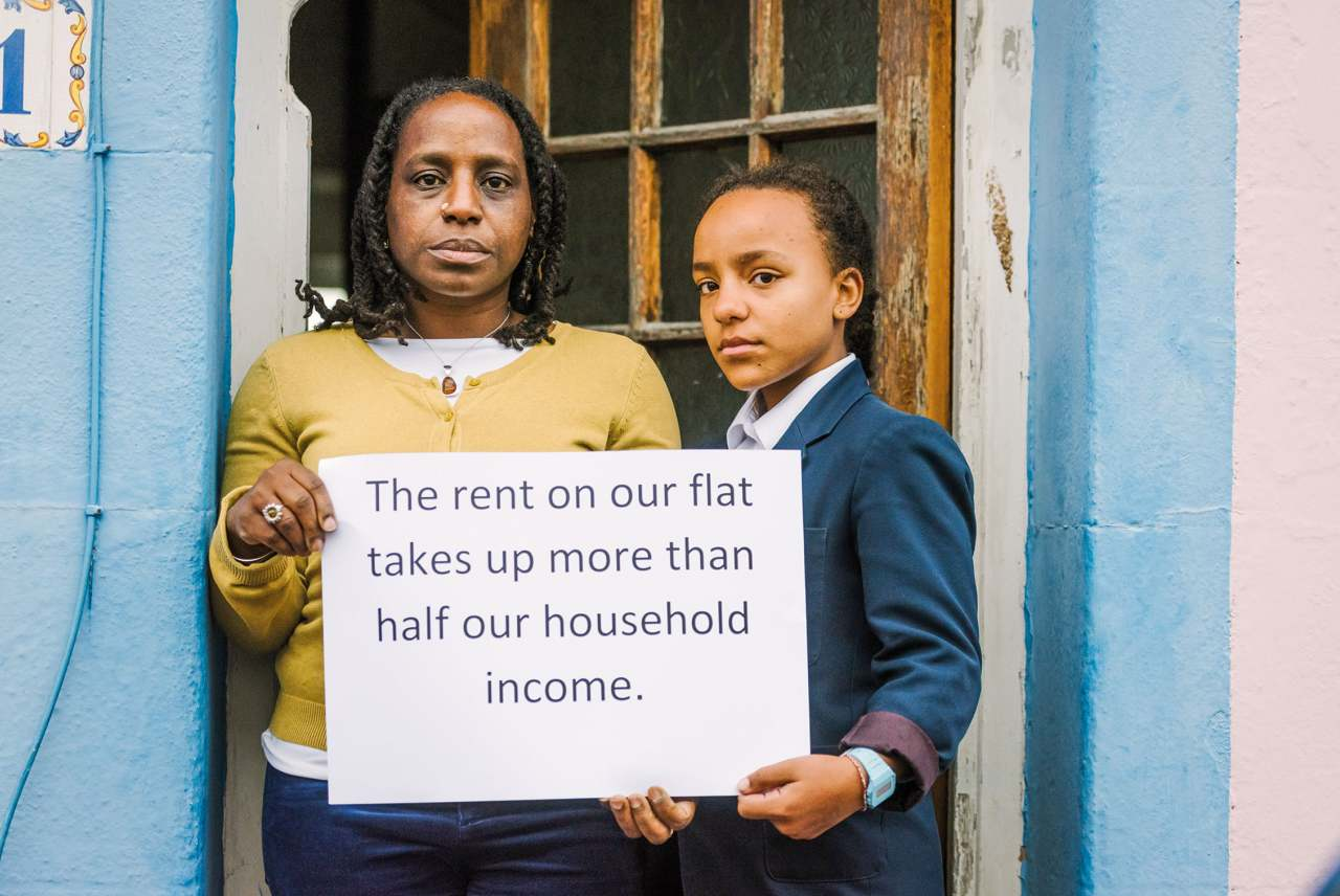 image: the rent on our flat takes more than half our household income single mother brighton hove