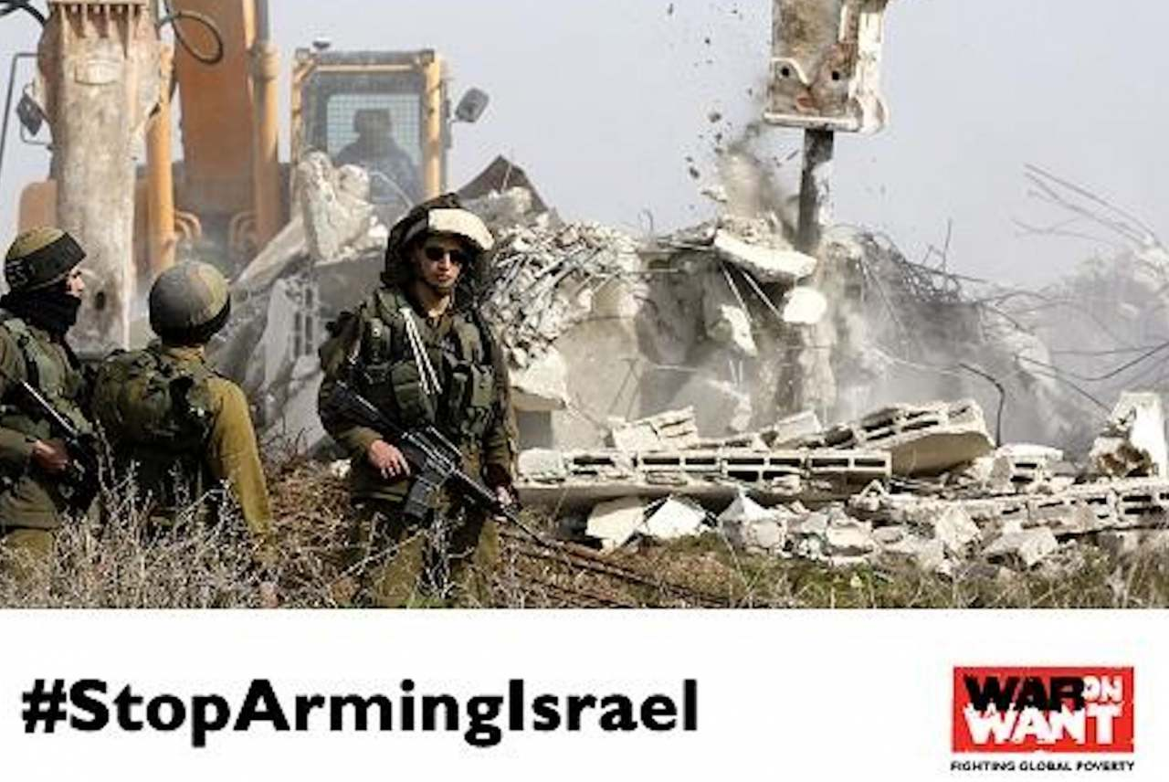 image: hsbc war on want stop arming israel