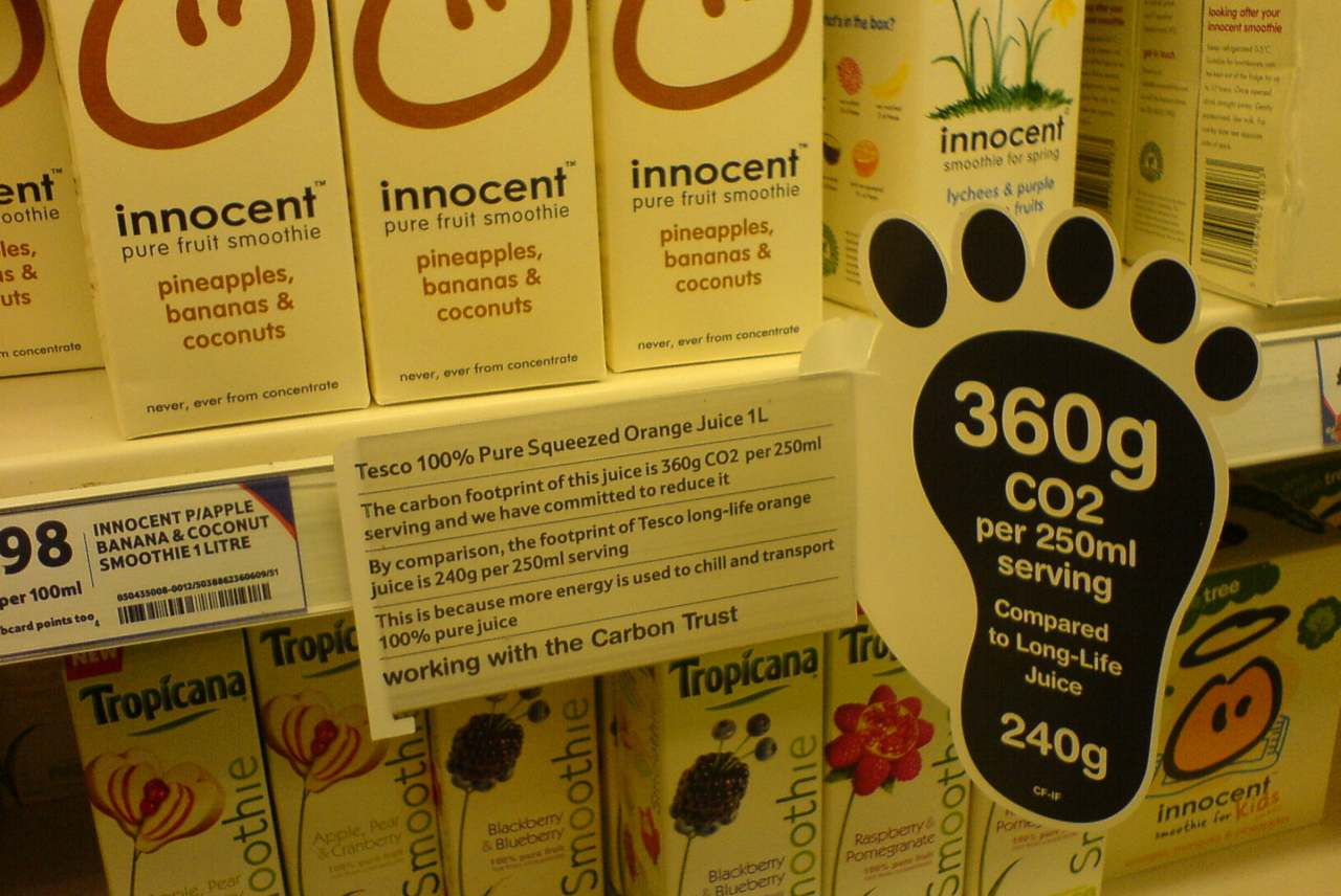 image: innocent smoothie carbon labelling co2