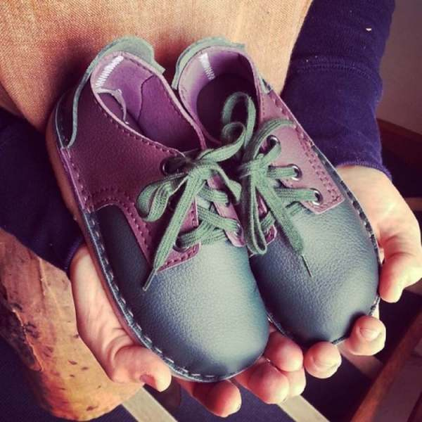 image: green shoes children's shoes gender neutral